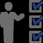 person and checkbox icon