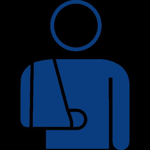 Arm injury icon