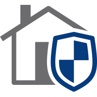 house with shield icon