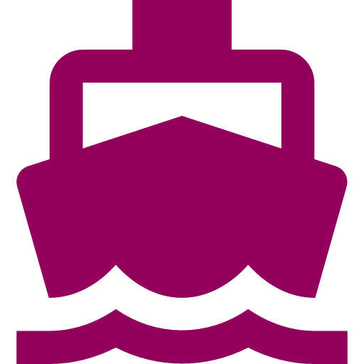 boat transportation icon red