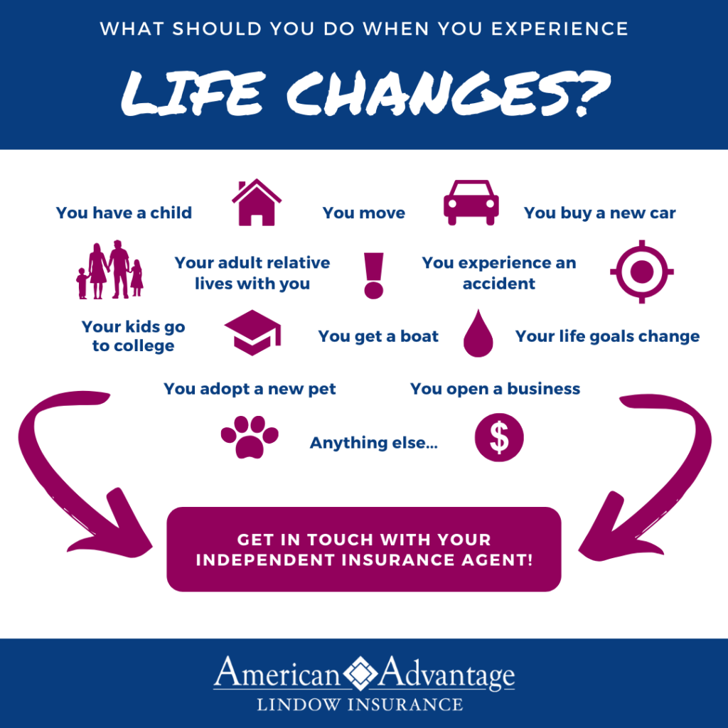 What to do with your insurance when you experience life changes